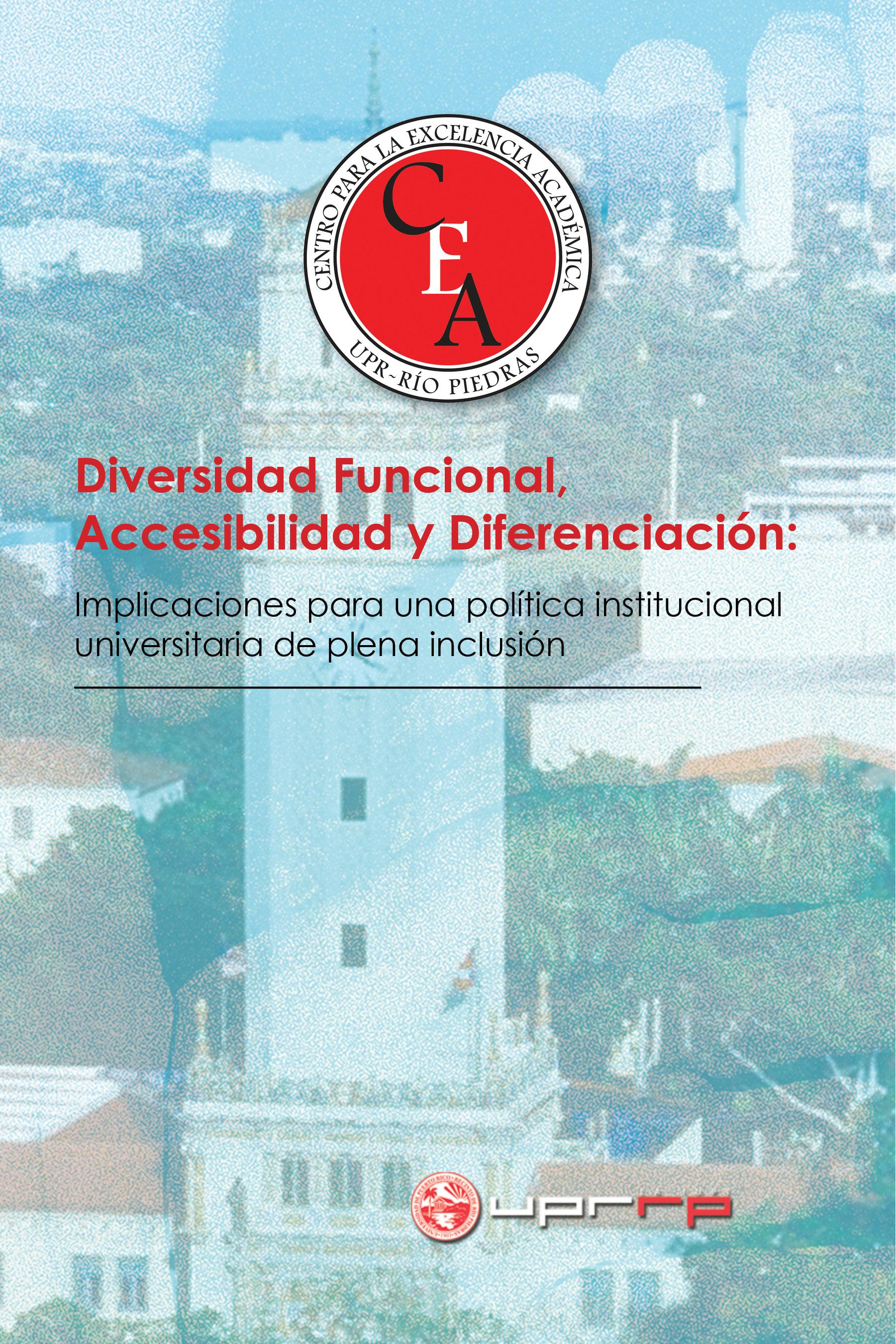 Portada del Libro: Diversidad Funcional, Accesibilidad y Diferenciación