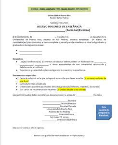 Modelo 1: Texto completo para página web del recinto de Río Piedras