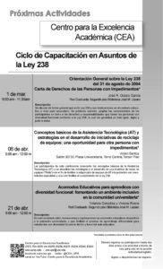 Promo actividades Ley 238