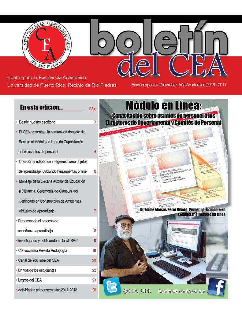 Boletín del CEA 2016-2017