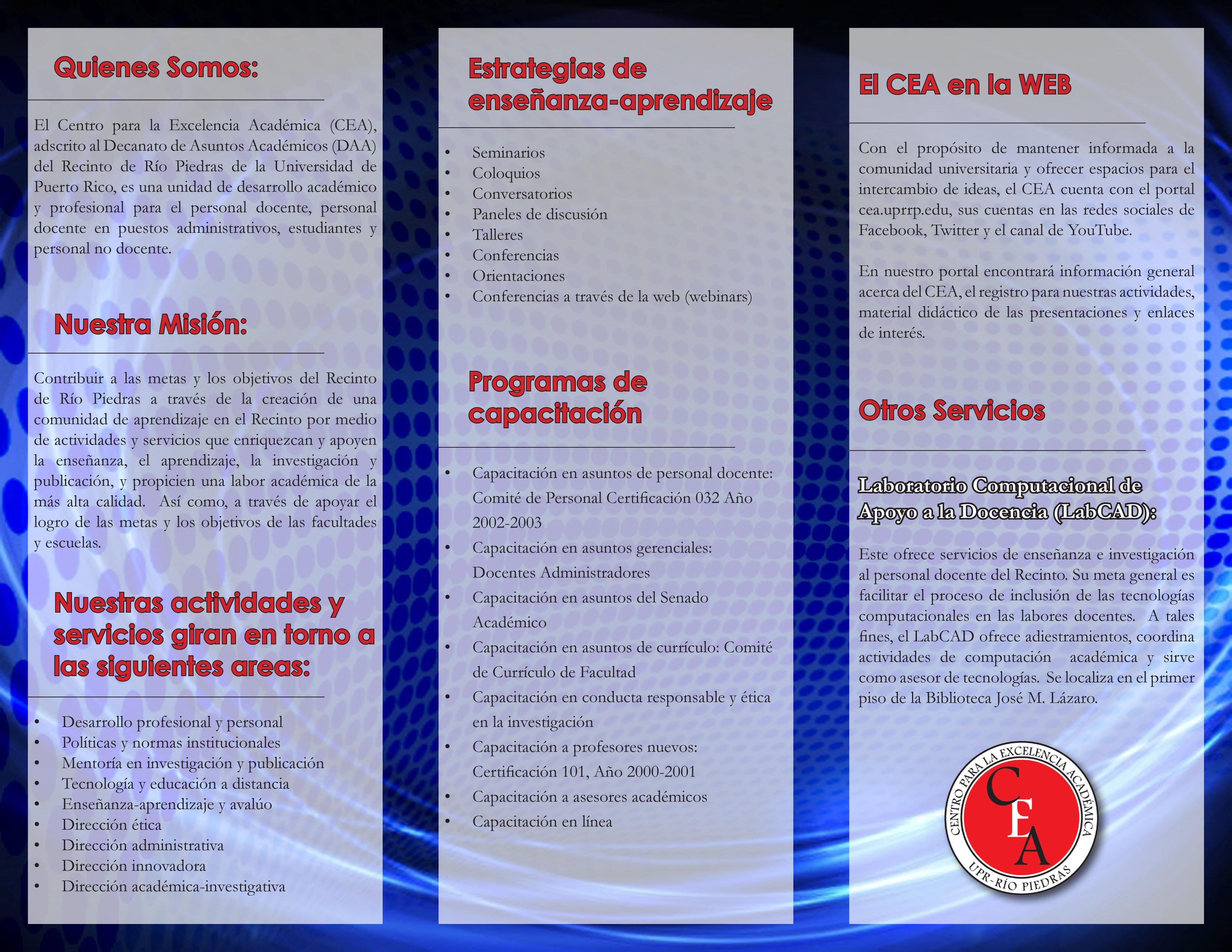 Opusculo del CEA 2015 agosto