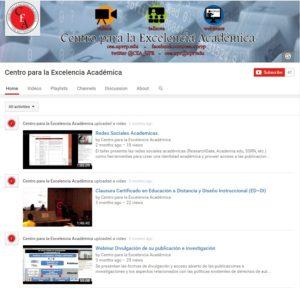 Página de youtube del CEA